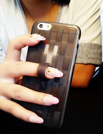 ** พร้อมส่งค่ะ ** เคส iPhone 6 Plus / 6s Plus ลายสาน สีดำใส