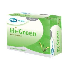 Mega We Care HI-GREEN เมก้า วีแคร์ ไฮ กรีน 30 แคปซูล ระตุ้นการเผาผลาญพลังงานและไขมัน ช่วยล้างพิษ