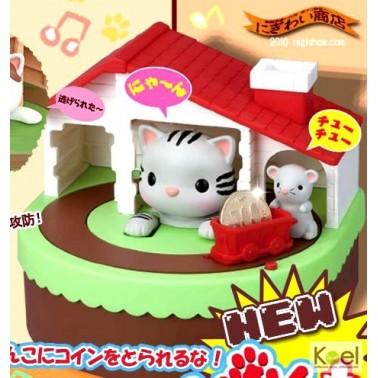 พร้อมส่ง :: กระปุกออมสินแมวจับหนู