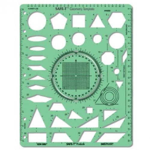 เครื่องเขียน อุปกรณ์การเรียน SAFE-T Geometry Template