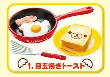 Re-ment Miniature Sanrio San-X Rilakkuma Breadfast Kitchen Eggs Set # 1