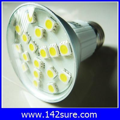 LDL001 หลอดไฟ LED SMD E27-18SMD 2.5W 220V with cover สีขาว (เทียบเท่าหลอดฮาโลเจน 25-30W) 40 000 ชั่วโมง ยี่ห้อ epiStar รุ่น JDRE 5050-18