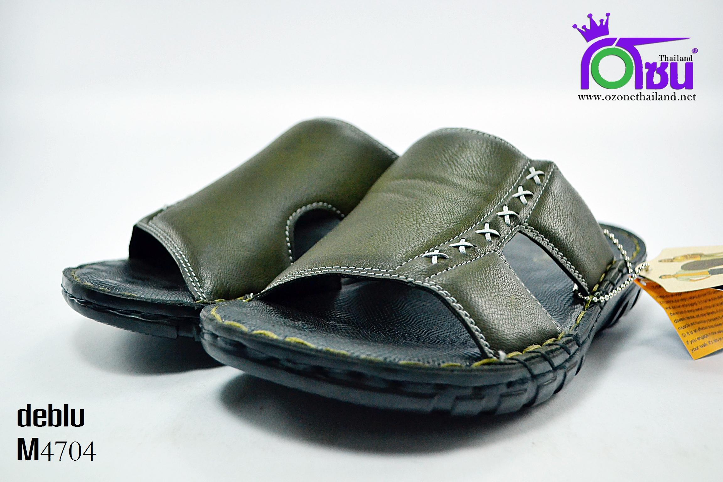 รองเท้า เดอบลู deblu รุ่น M4704 สีเขียวขี้ม้า เบอร์ 39-44