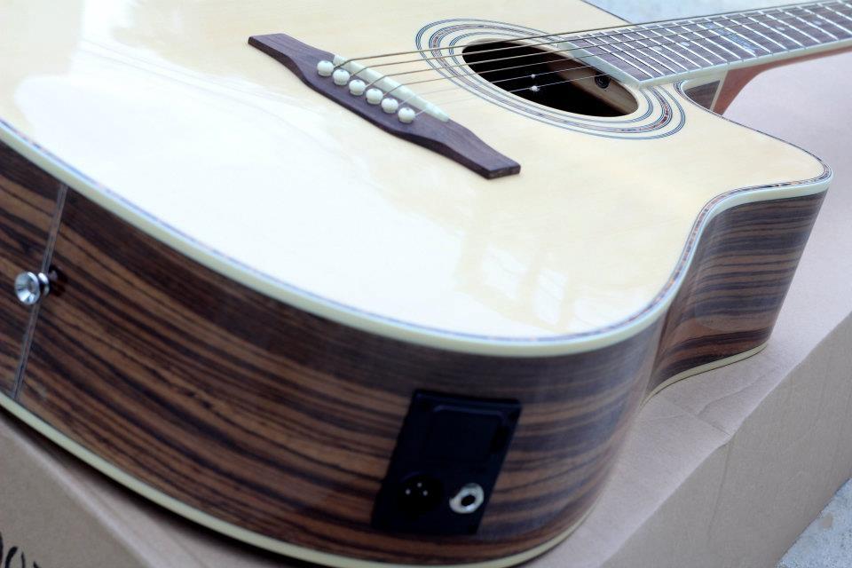 กีต้าร์ โปร่งไฟฟ้า Guitar Kasound รุ่น KA41068E