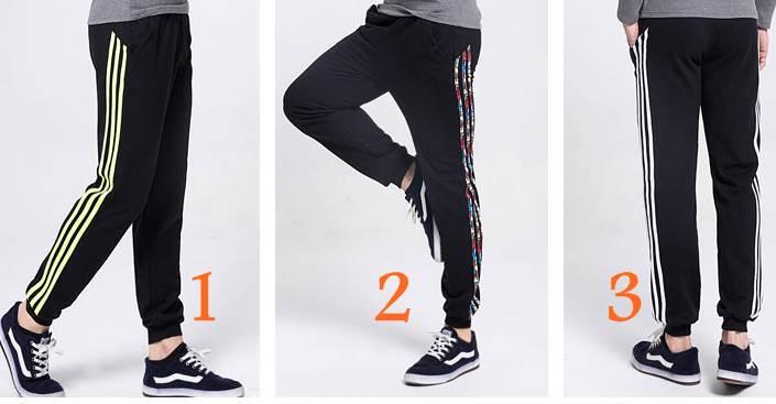 หลากสีใหญ่ยาวพิเศษ!!กางเกงผ้าฝ้ายขาจั๊ม เอวจั๊มรูด ออกกำลังกาย ฟิตเนส แต่งข้างแฟชั่น คุณภาพสูง แบบ1 2 3 4 5 6