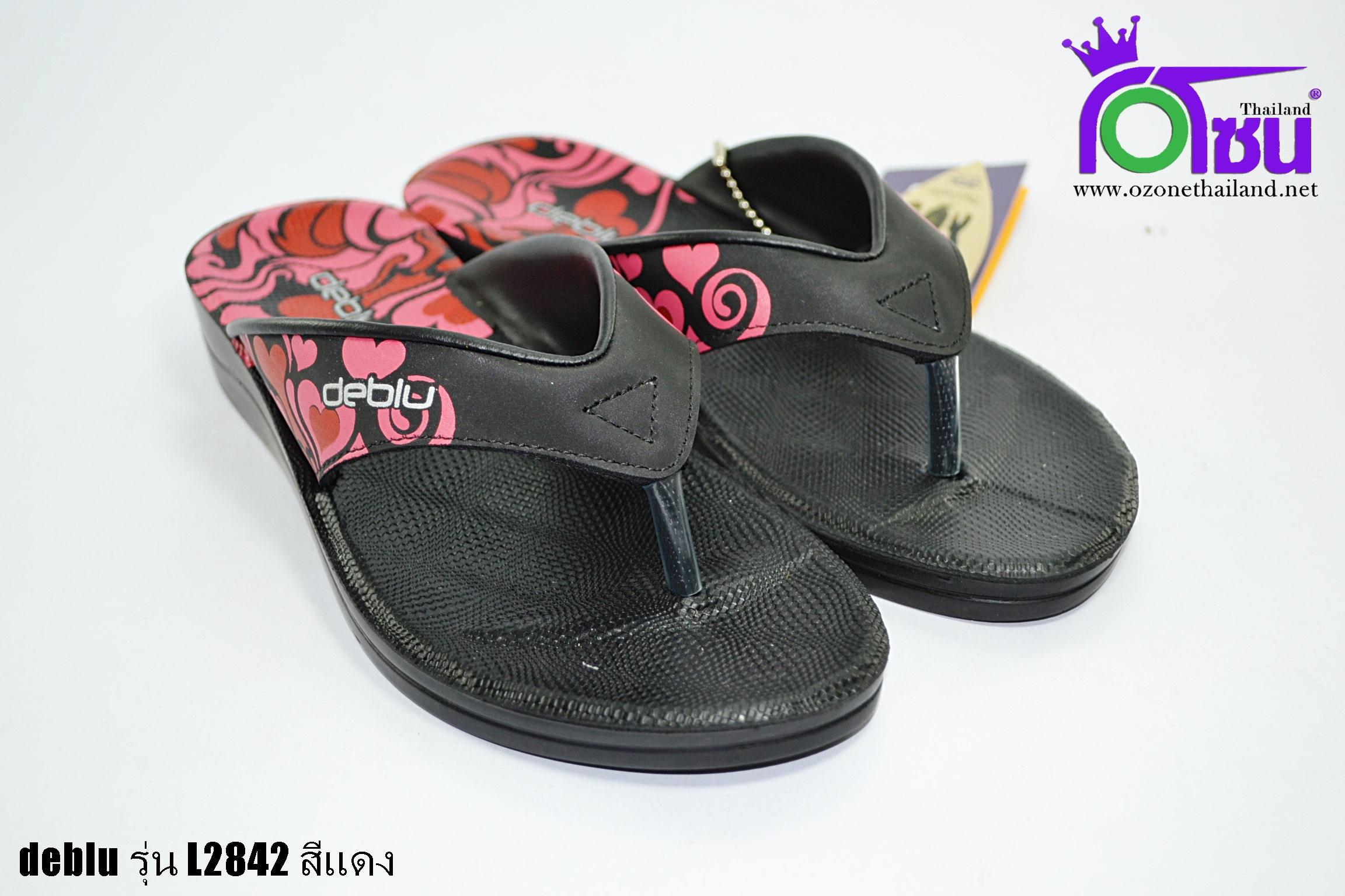 รองเท้าเดอบลู deblu รุ่นL2842 สีแดง เบอร์36-41