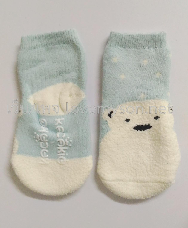 ถุงเท้าเด็กกันลื่นอย่างหนา ไซส์ 10-12,12-14 ซม. MSH76