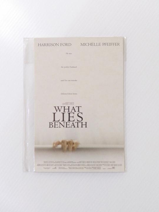 """โปสการ์ดภาพยนตร์ เรื่อง """"WHAT LIE S BENEATH"""""""