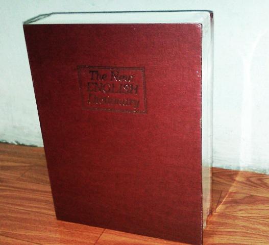 """ตู้เซฟทรงหนังสือ """"ไซด์ใหญ่"""" สีแดง ( ซื้อ 3 ชิ้น ราคาส่ง 500 บาท)"""