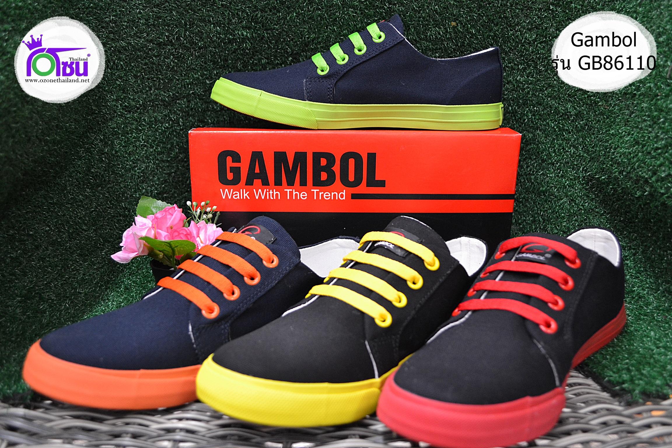 รองเท้าผ้าใบ Gambol แกมโบล รุ่น GB 86110 เบอร์ 36-39