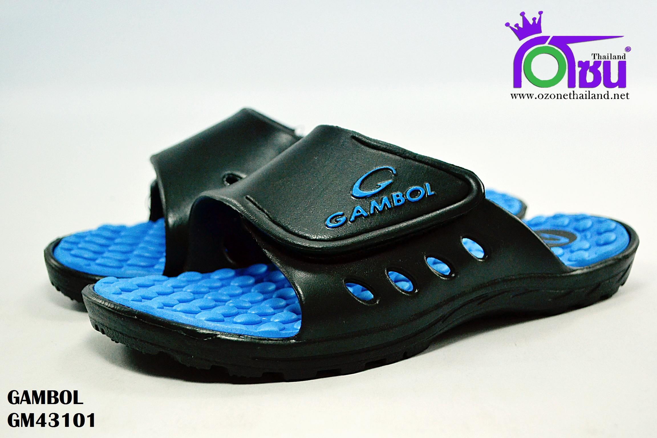 รองเท้าแตะ GAMBOL แกมโบล รุ่น GM 43101 สีน้ำเงิน เบอร์ 4-9