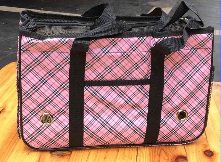 กระเป๋าน้องหมาสก็อตชมพูอ่อนไซด์ S