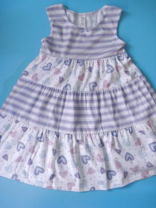 CTP017 Carter's ชุดนอนเด็กหญิง ชุดลำลอง สาวน้อย สีขาวลายริ้วสลับลายหัวใจสีม่วง Size 2T-3T