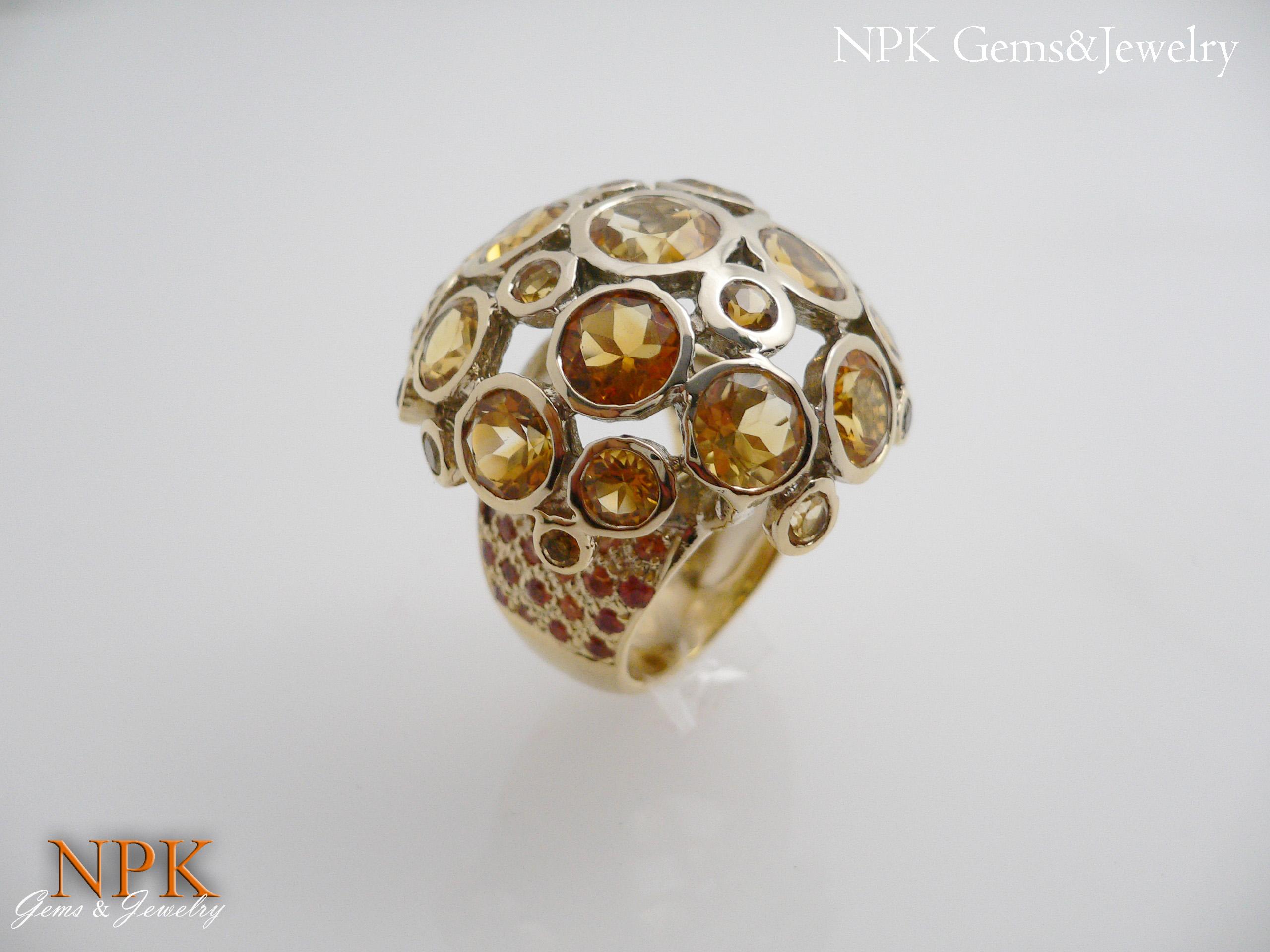 แหวนซิทรีน (Citrine Silver Ring)