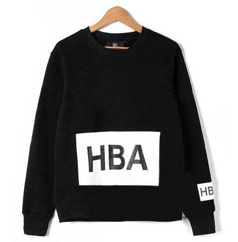 เสื้อแฟชั่นแขนยาว HBA EXO BAEKHYUN สีดำ