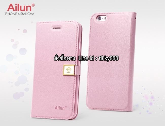 เคสฝาพับ iPhone 6/6s แบรนด์ Ailun สีชมพูอ่อน