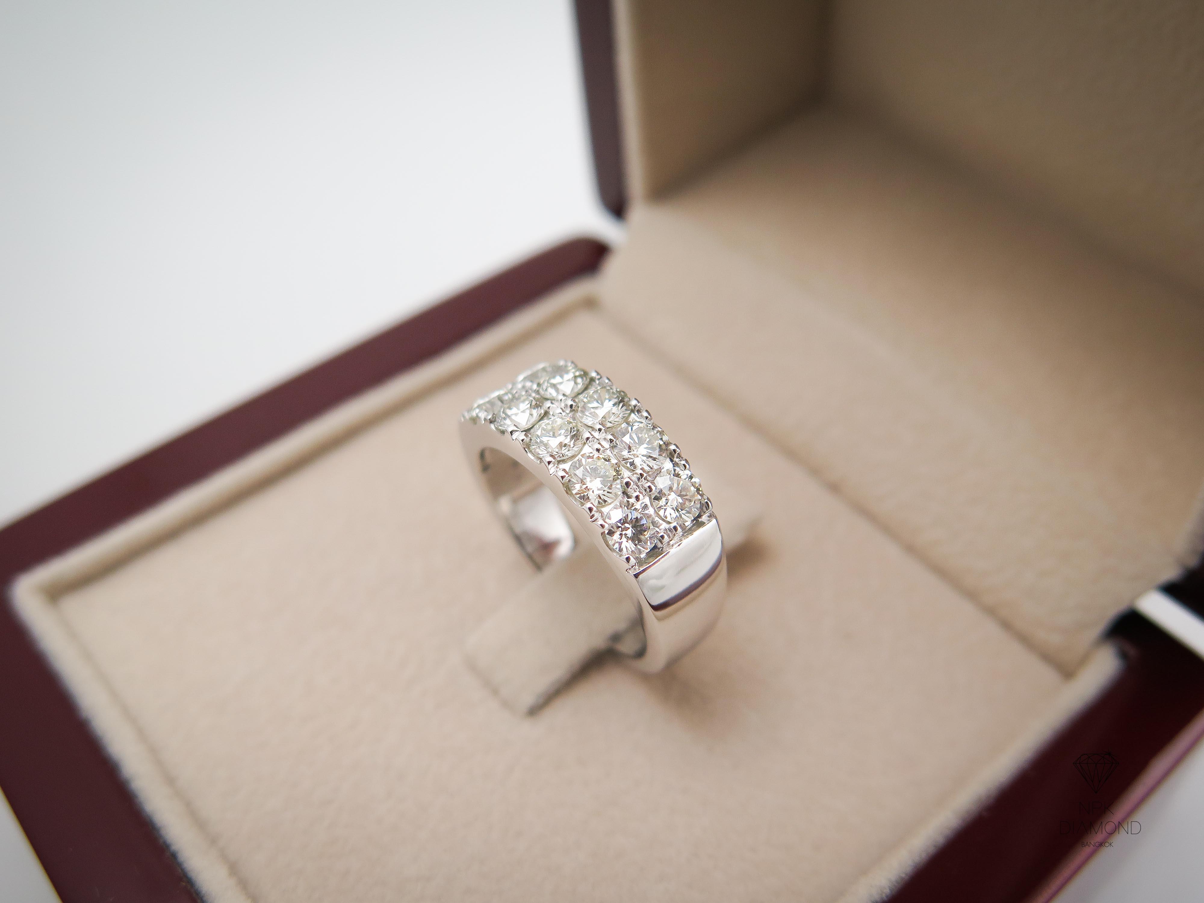 แหวนเพชร2แถว