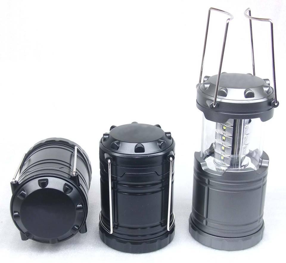 ตะเกียงพับได้ LED CAMPING LIGHT สีดำ 199 รวมส่ง EMS แถมถ่าน AA3ก้อน Hot!!