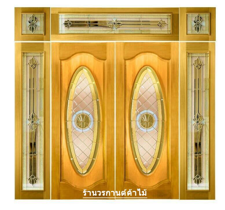 กระจกนิรภัยสเตนกลาส วงเต็มบานสีทอง รหัส G10