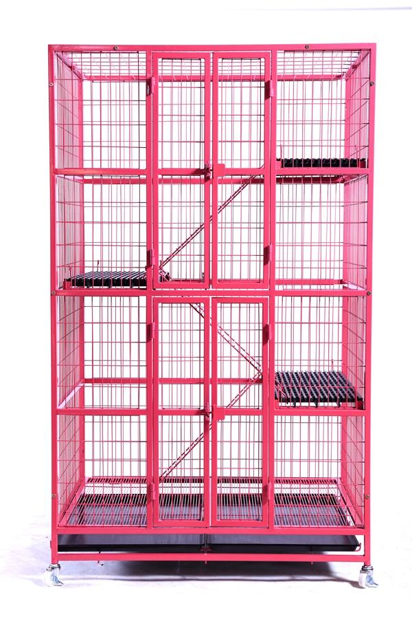 กรงแมว 6 หุน ( สีชมพู )