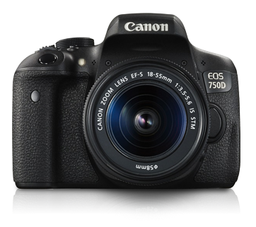 Canon 750D+ Lens 18-55mm IS STM