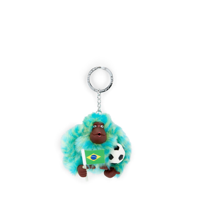 Kipling Brazil Soccor monkey keychain มาพร้อมกล่องพลาสติกใส ขนาด 4x3.25x2.25 นิ้ว