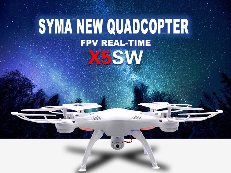 โดรนติดกล้อง Syma X5SW Quadcopter white สีขาว