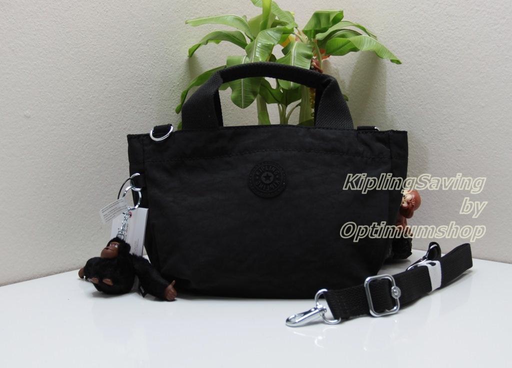 Kipling Sugar S Black กลับมาอีกครั้งกับรุ่นสามช่องยอดนิยม กระเป๋าหิ้วกุ๊กกิ๊ก หรือสะพายน่ารัก ขนาด L 10.25 x H 6.75 X D 6 นิ้ว
