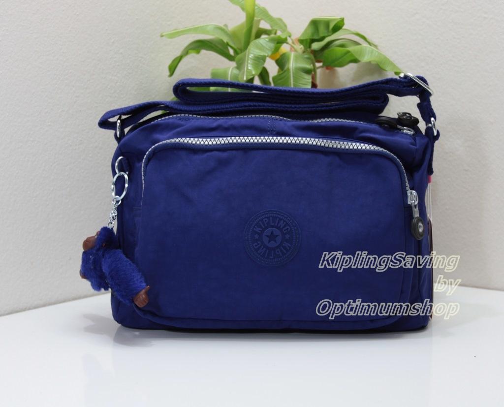 Kipling Reth Flash Blue กระเป๋าสะพาย หลายช่องซิป จุมาก น่าใช้ ขนาด 27 L x 17.5 H x 15 W cm