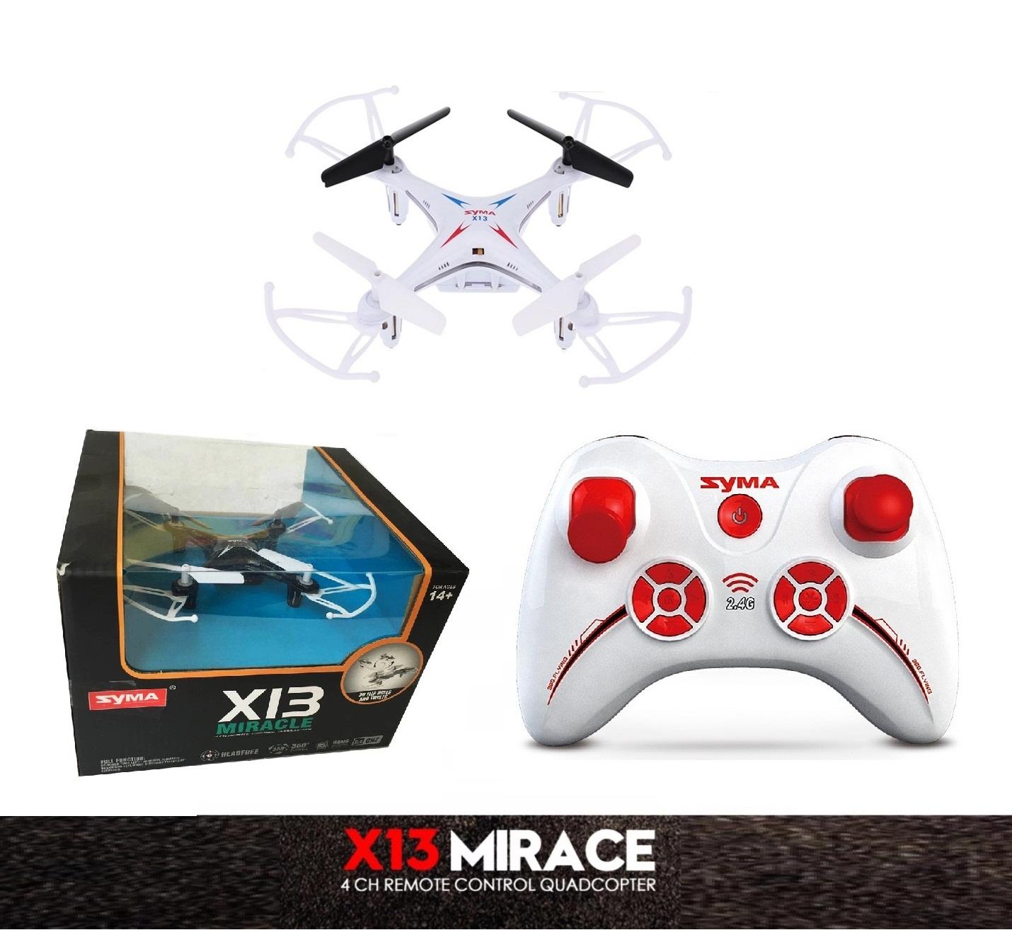 โดรน SYMA X13 RC Drone Gyro 6 Axis 2.4G 4CH (สีขาว)