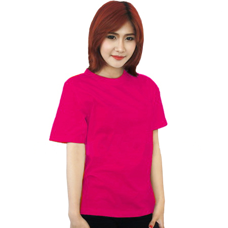 เสื้อยืดสีชมพูบานเย็น