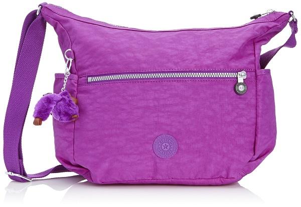 Kipling Alenya Purple Dahlia จากเบลเยี่ยม กระเป๋าสะพายข้าง มีช่องเก็บของด้านข้าง ขนาด 32 L x 32 H x 14.5 W cm medium