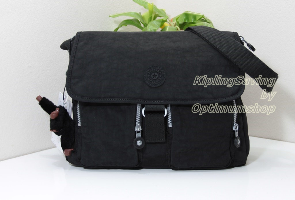 Kipling New Rita Black กระเป๋าสะพายข้าง ทรงสวย ขนาด L13 x H 8.5 x D 6.25 นิ้ว