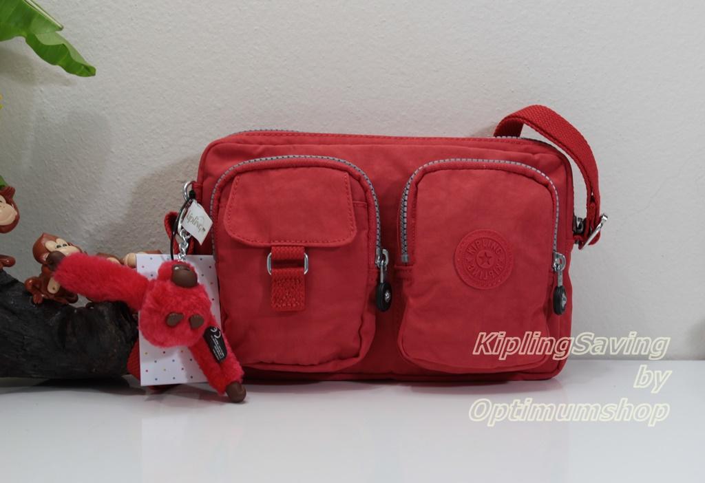 Kipling Emma Tomato Red กระเป๋าสะพาย ขนาดกระทัดรัด สะพายในวันชิลล์ๆ ขนาด ยาว 9 นิ้ว สูง 6.25 นิ้ว กว้าง 2 นิ้ว