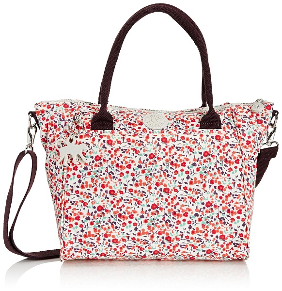 Kipling Amiel Pop Floral Pr กระเป๋าหิ้วหรือสะพาย น่าใช้มากๆ ลายยอดนิยมเลยค่ะ ขนาด 27 L x 24.5 H x 14.5 W cm medium