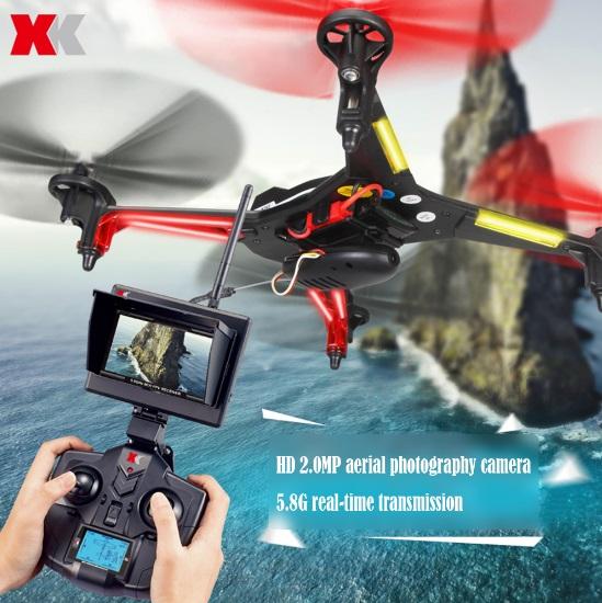 โดรน เครื่องบินบังคับ XK X250 Alien โดรนติดกล้อง FPV 5.8ghz ภาพ Real - Time (สีดำ)
