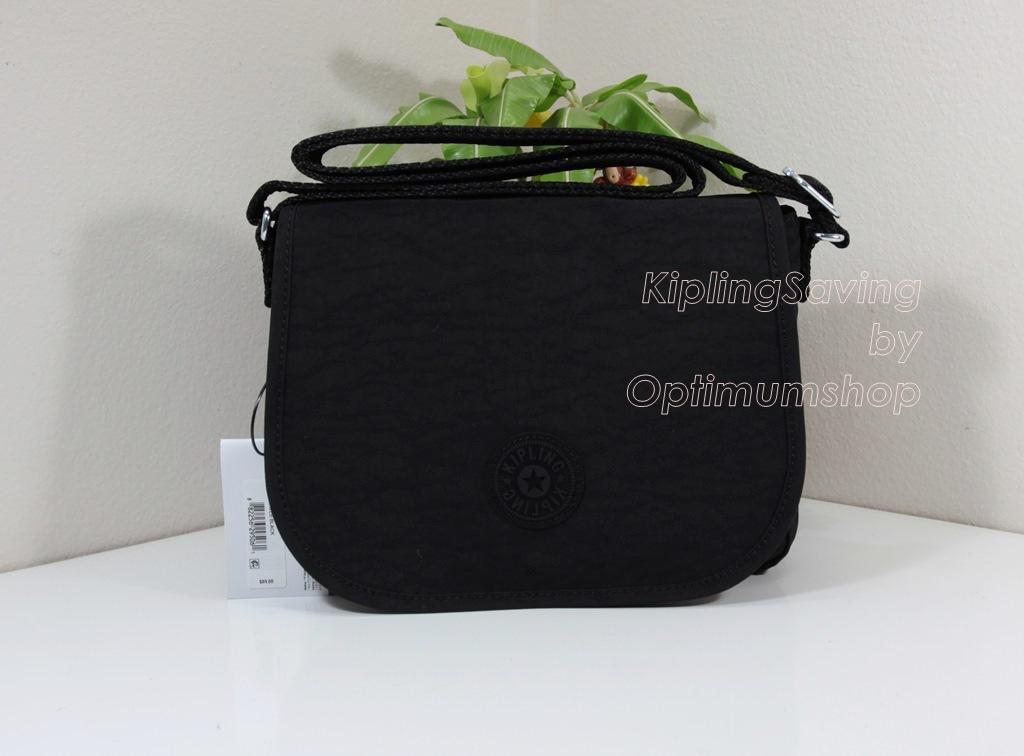 Kipling Haven Black กระเป๋าสะพายข้าง หลายช่องซิป ขนาด L10.25 x H 8 x D 3 นิ้ว สำเนา