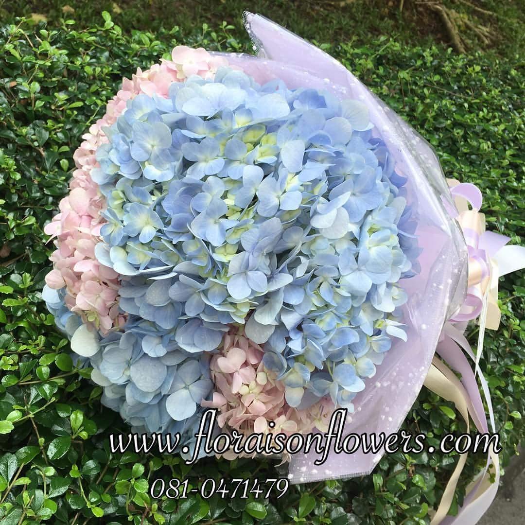 ช่อดอกไม้ไฮเดรนเยีย แสดงความยินดี (M)