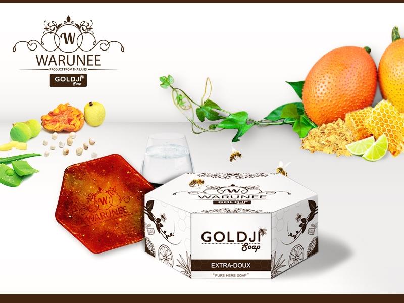 สบู่สมุนไพรธรรมชาติ Warunee Goldji Soap