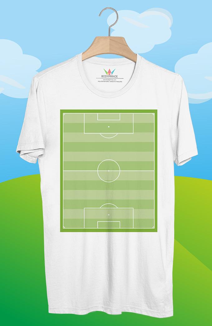 BP445 เสื้อยืด สนามฟุตบอล