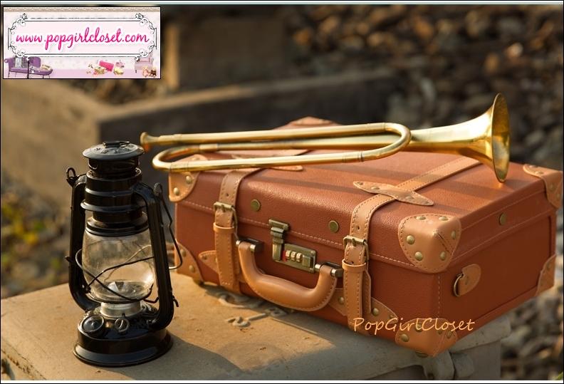 กระเป๋าสะพายวินเทจเรโทรสไตล์เกาหลี ฺChocolate / Light Brown ไซส์ 16 นิ้ว PU Leather Vintage Retro Korea Style (Pre-order)