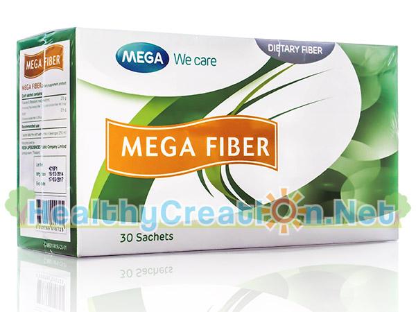 Mega We Care Mega Fiber เมก้า วีแคร์ เมก้า ไฟเบอร์ บรรจุ 30 ซอง ช่วย ปรับสมดุลระบบทางเดินอาหารทำให้อุจจาระมีกากใยและนิ่มสะดวก ต่อการขับถ่าย