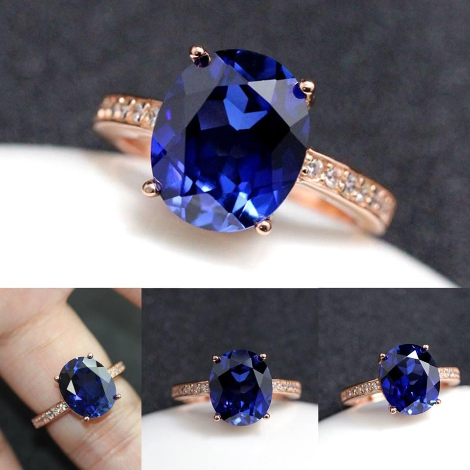 แหวน Tanzanite อัญมณีสีฟ้า