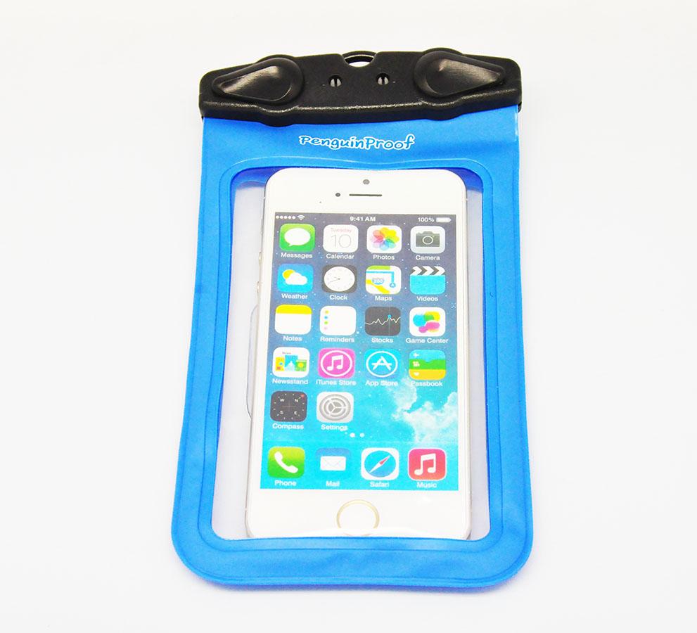 M-45C ซองกันน้ำโทรศัพท์มือถือขนาดไม่เกิน 4.5 นิ้ว สีฟ้า