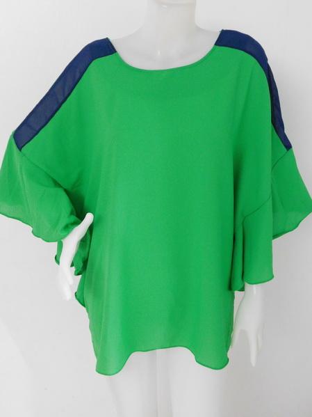 1009291 ขายส่งเสื้อผ้าแฟชั่น ผ้าชีฟองเนื้อดีงานสวยแบบเก็สุดๆ ผ้าใส่สบายค่ะ รอบอก 40 นิ้ว
