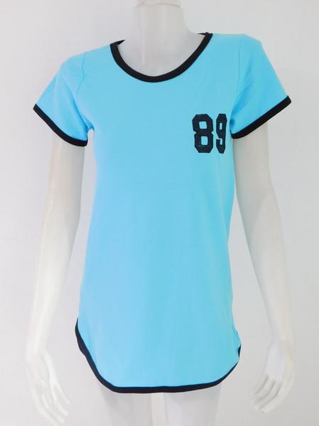 954796 ขายส่งเสื้อผ้าแฟชั่นผ้ายืดตัวยาวเนื้อดีค่ะ แบบเก๋ใส่สบายค่ะ รอบอก 36 นิ้ว