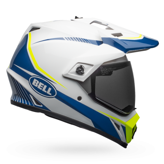 BELL MX-9 ADVENTURE MIPS WHITE BLUE YELLOW