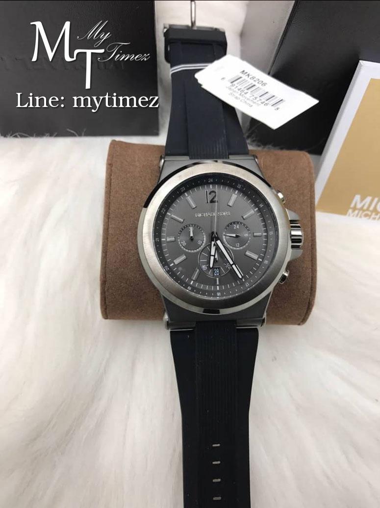 นาฬิกาข้อมือ MICHAEL KORS รุ่น Dylan Chronograph Black Dial Grey Case MK8206