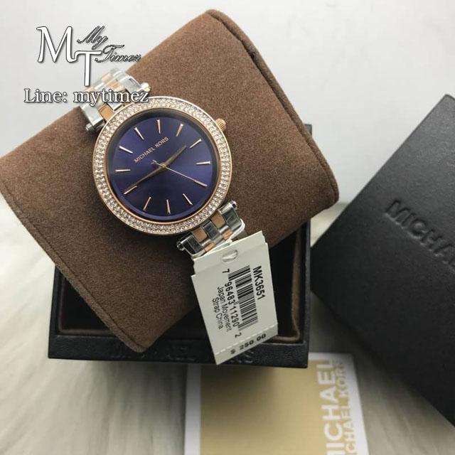 นาฬิกาข้อมือ MICHAEL KORS รุ่น Mini Darci Blue Mother of Pearl Dial Ladies Watch MK3651