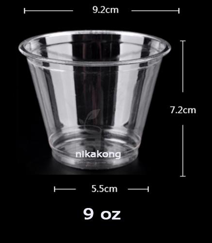 ถ้วยไอศครีม 9 oz. หรือพลาสติกอเนกประสงค์ พร้อมฝาโดม